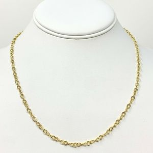 """Jewelry - 14k Gold Diamond Cut Circle Cable Necklace 18"""""""